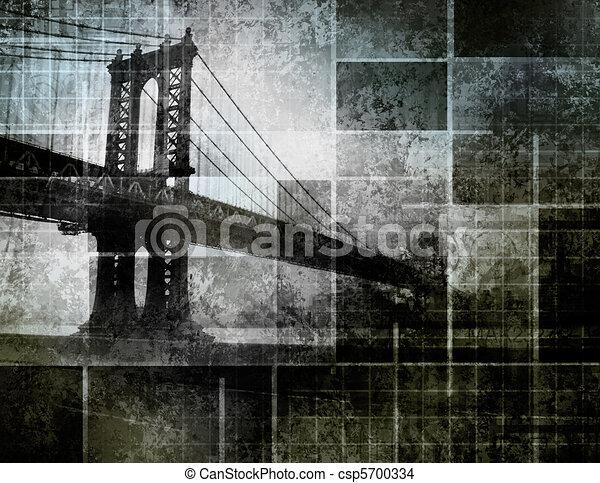 Modern Art Inspired New York City Bridge - csp5700334