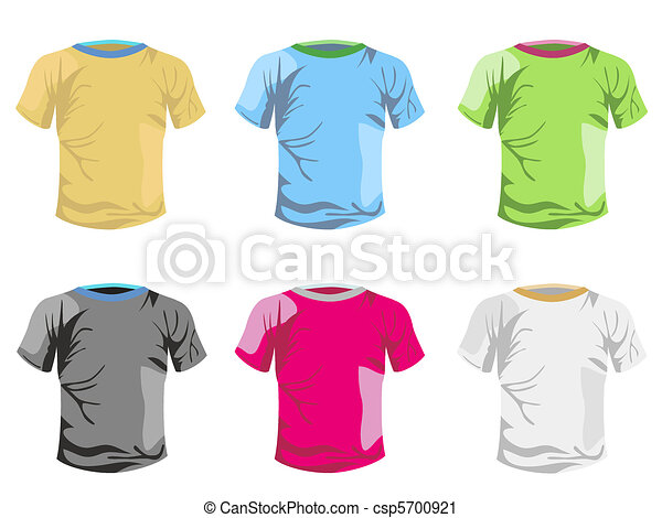 color T-shirt vector template - csp5700921