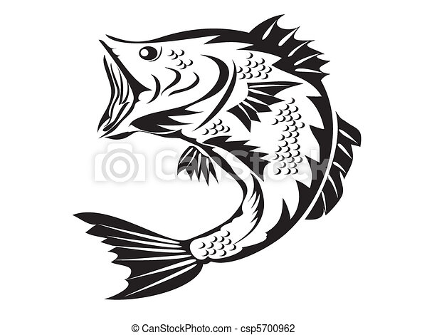 fishing symbol - bass - csp5700962