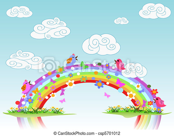 colorful spring rainbow - csp5701012