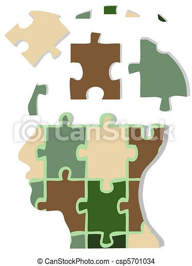 Camouflage jigsaw head - csp5701034