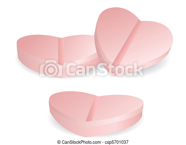heart shape of medicine - csp5701037