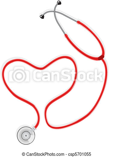 Stethoscope form the Shape Of Heart - csp5701055