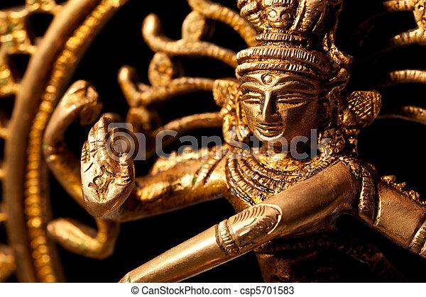 Statue of indian hindu god Shiva Nataraja - Lord of Dance - csp5701583