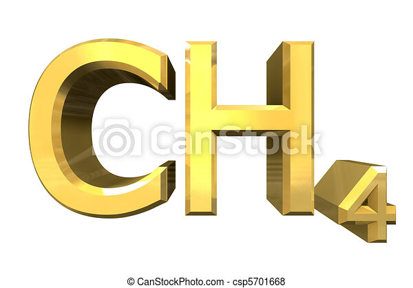 3d chemistry formulas in Gold of Methane  - csp5701668