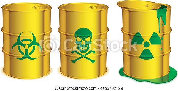 Toxic barrels. - csp5702129
