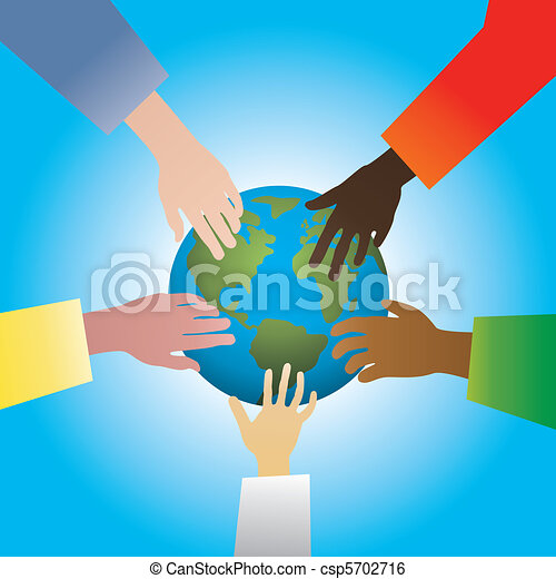 hands touching earth - csp5702716
