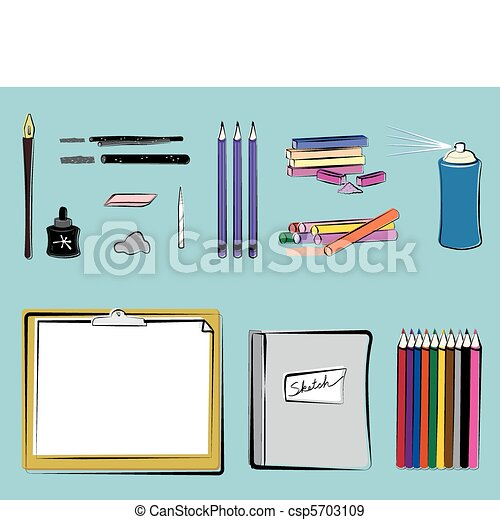 Art Supplies - Drawing - csp5703109