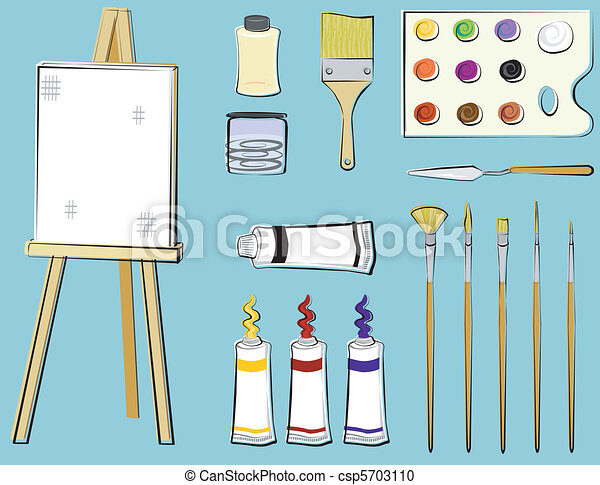 Art Supplies - Painting - csp5703110