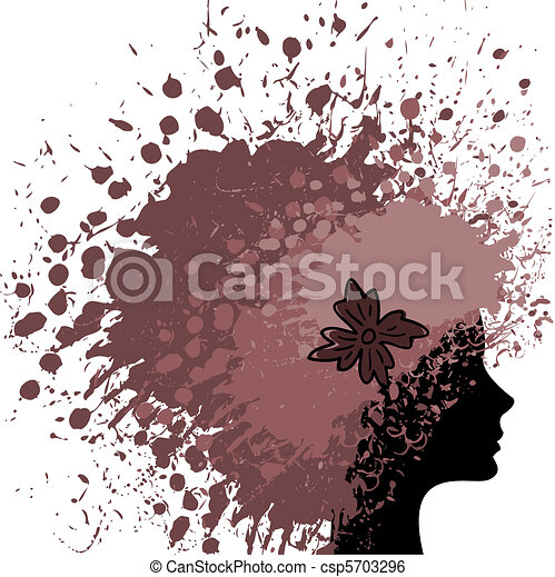 hair from paint - csp5703296