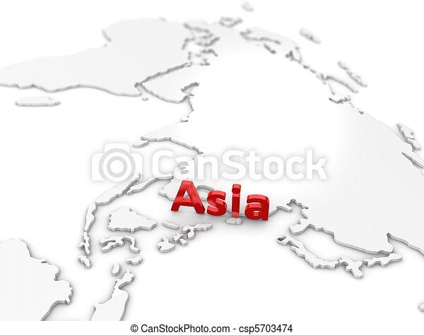 Asia region - csp5703474