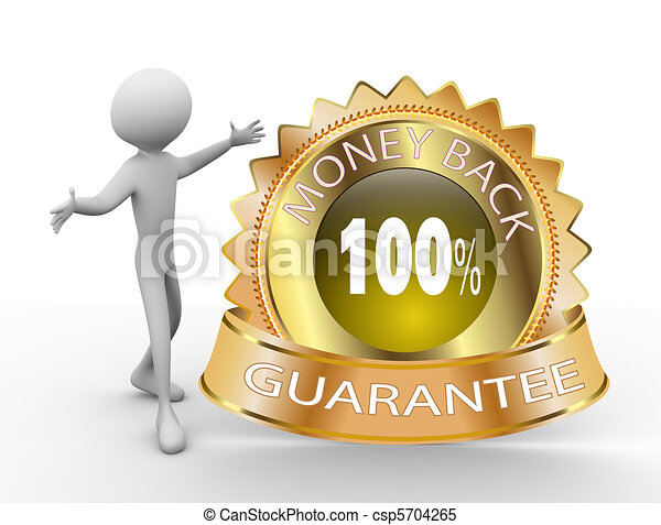 3d Money Back Guarantee  - csp5704265