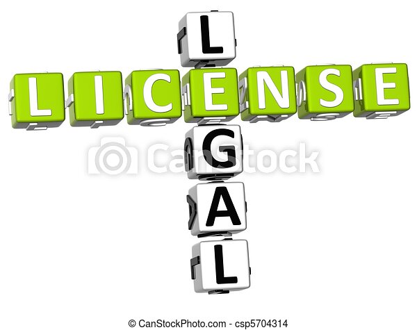 Legal License Crossword - csp5704314