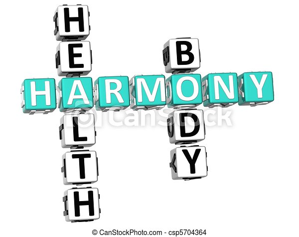 Harmony Health Body Crossword - csp5704364