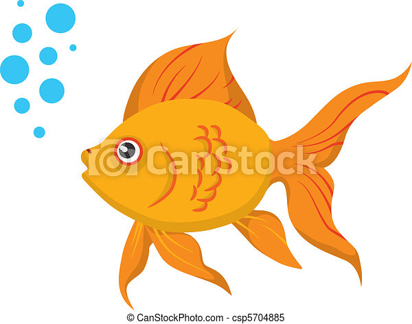 Clip Art Goldfish Clip Art clipart vector of goldfish a cute isolated on white csp5704885
