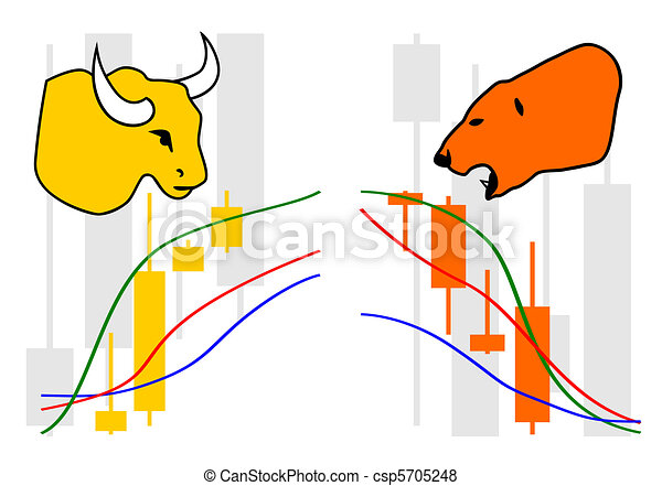 Commodity, Forex trading vector - csp5705248