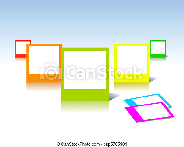 Colorful photo frames in vector art - csp5705304