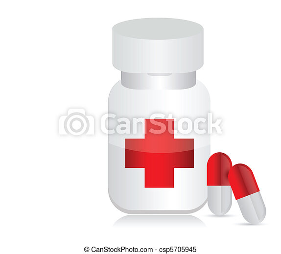 Jar for medicines - csp5705945