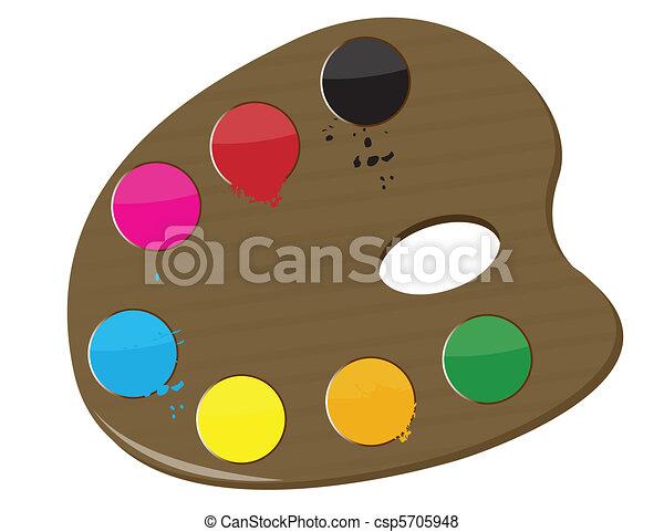 Artist's palette - csp5705948