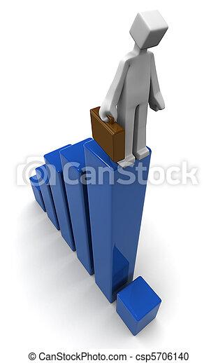 Economy recession business financial drop concept - csp5706140