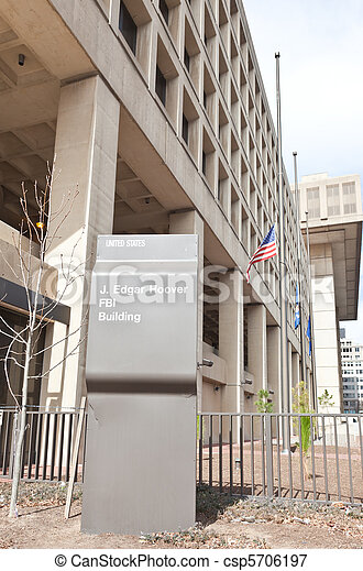 FBI building in Washington DC USA - csp5706197