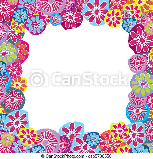 Cute floral frame for children - csp5706550