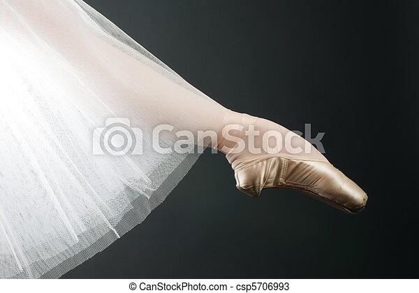 legs in ballet shoes - csp5706993