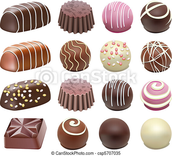 Vecteur Clipart... Box Of Chocolates Clip Art