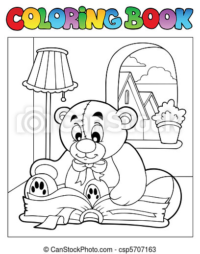 Coloring book with teddy bear 2 - csp5707163