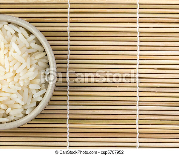 Bowl of rice view from the top - csp5707952