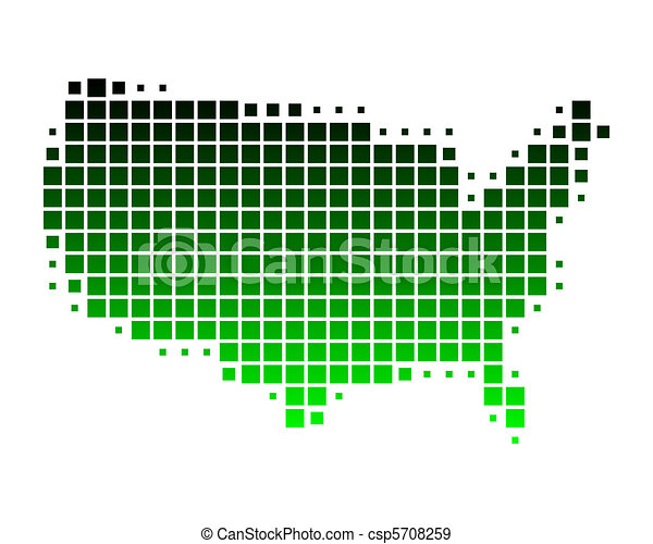 Map of United States of America - csp5708259