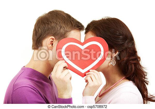 Valentines kissing - csp5708972