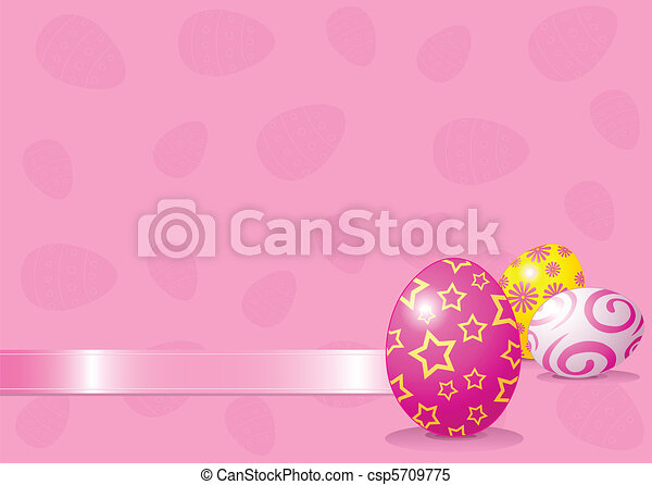 Easter eggs background - csp5709775