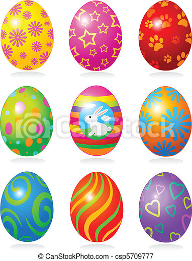 Easter eggs  - csp5709777
