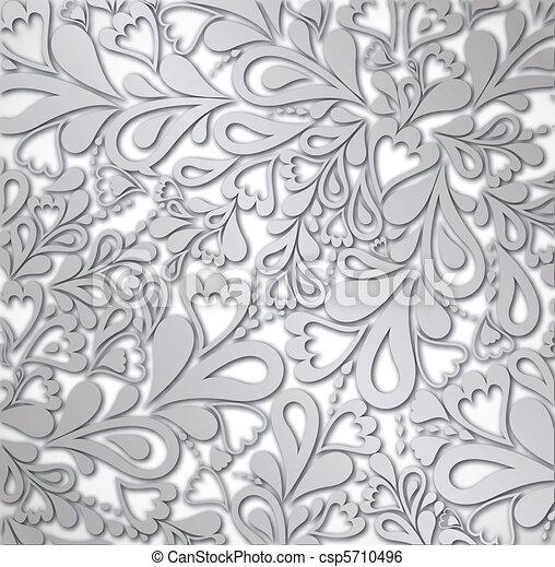 Illustration silver Retro Vintage. Vector - csp5710496