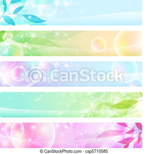 glossy banners colorful, headers - csp5710585