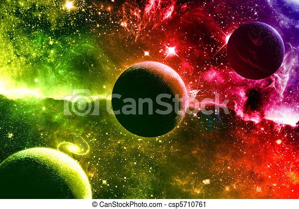 Stock Illustration - Universe galaxy nebula stars and planets - stock ...
