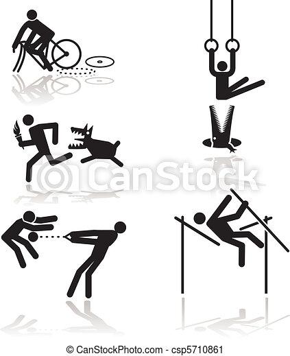 Humor olympic games - 1 - csp5710861