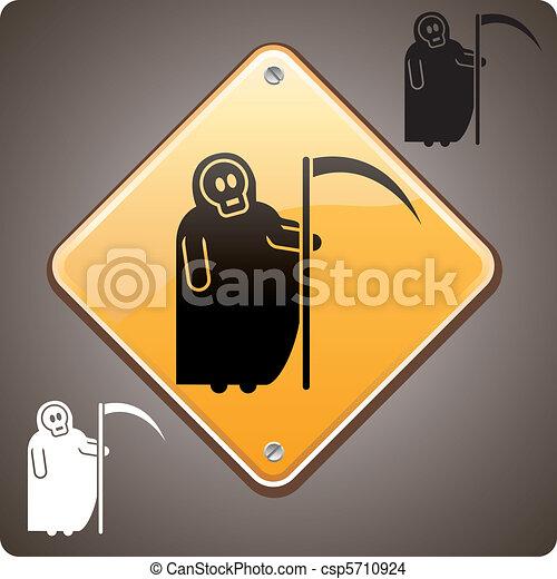Warning! Death ahead - csp5710924