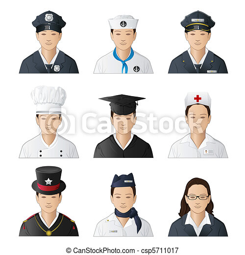 woman in different professions - csp5711017