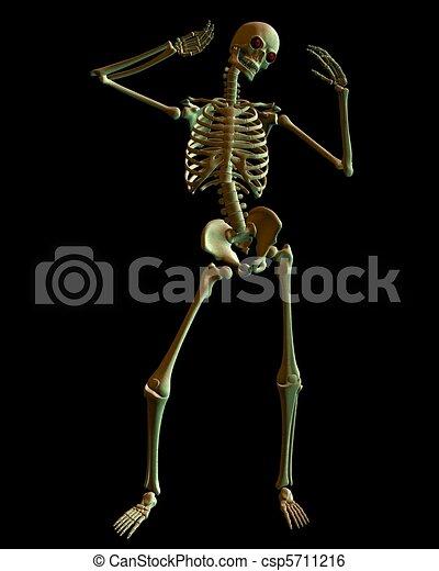 Skeleton in Spooky Green Lighting - csp5711216