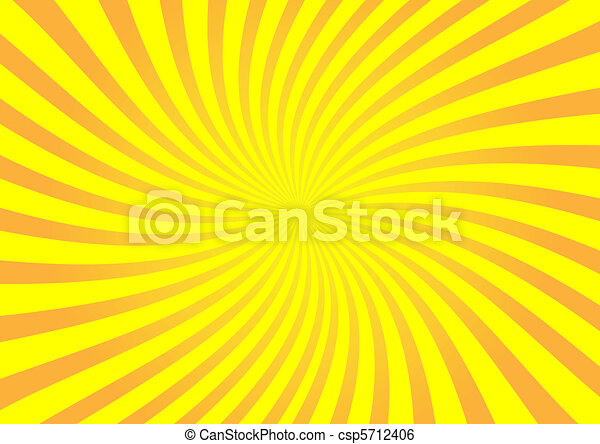 Vector orange sunburst - csp5712406