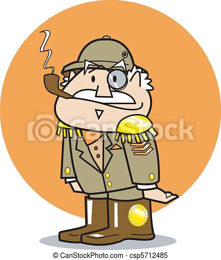 General Wearing Military Uniform - csp5712485