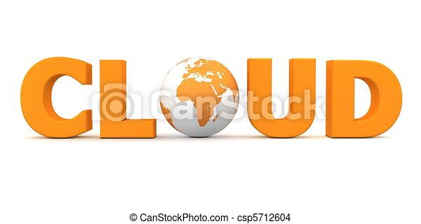 Cloud World Orange - csp5712604