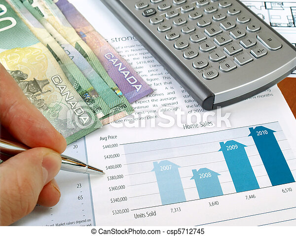 Home sales chart - csp5712745