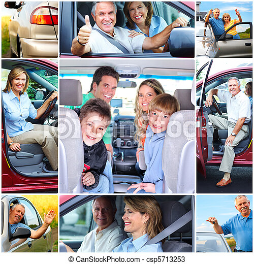 Senior couple in the car - csp5713253