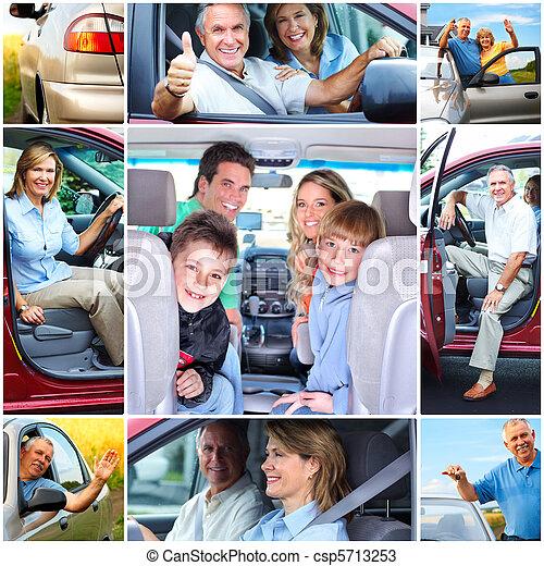 Senior couple in the car - csp5713253