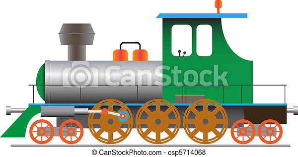 Steam locomotive - vector eps8 - csp5714068