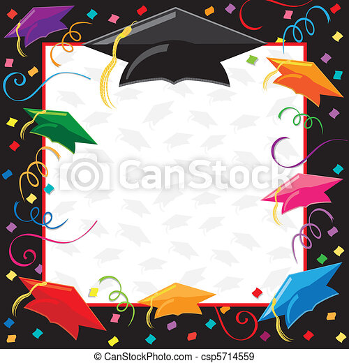 Eps Vectors Of Graduation Party Invitation Colorful
