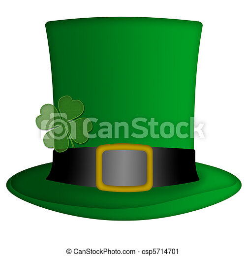 Stock Illustration - St Patricks Day Irish Leprechaun Hat - stock ...